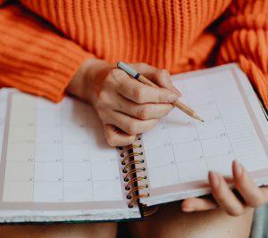 Calendario de Actividades de Terapia Regresiva
